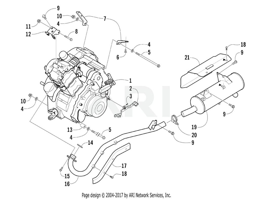 Arctic Cat OEM 0462-028 Engine Assembly (Elt500Fk3)