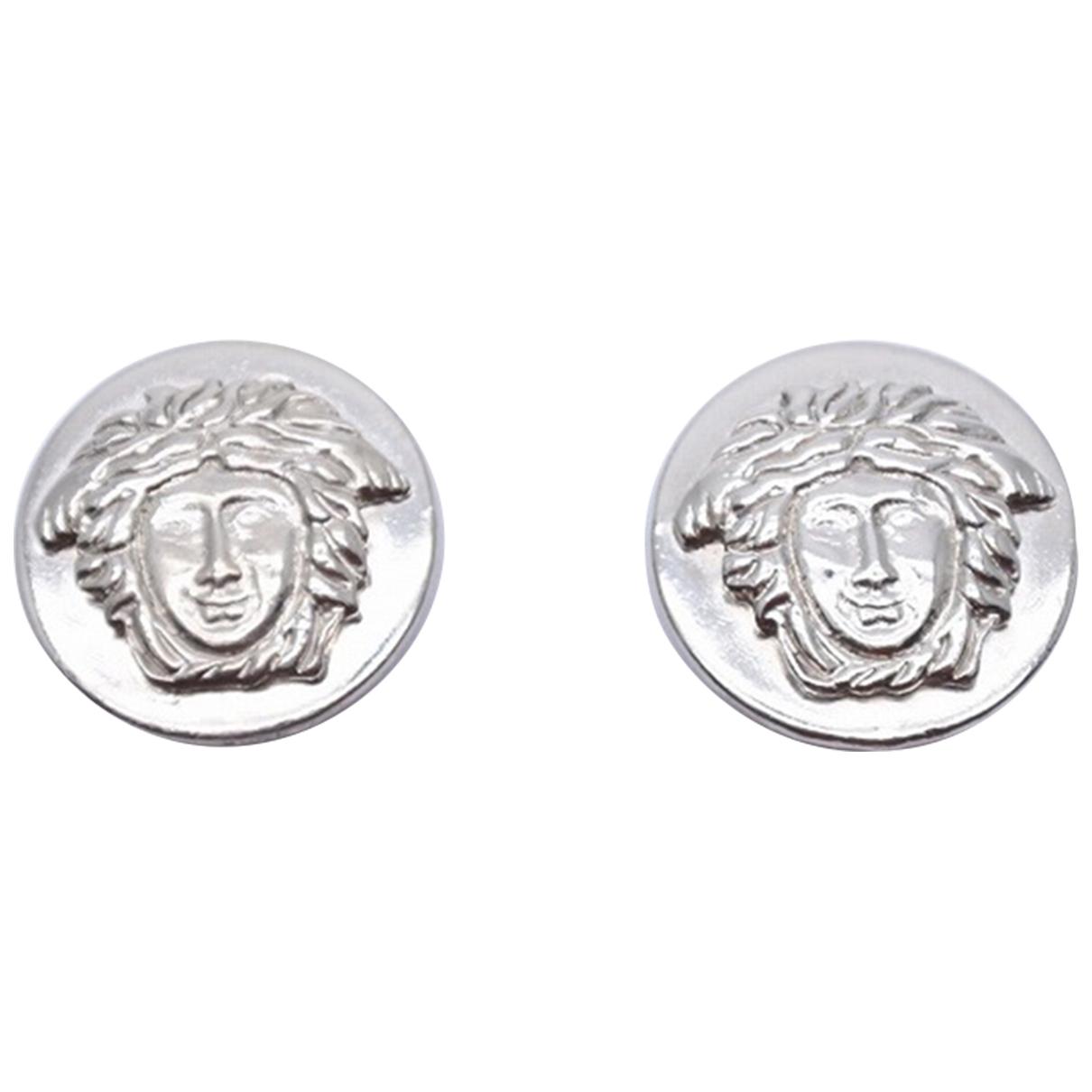 Versace - Boucles doreilles Medusa pour femme en plaque argent - argente