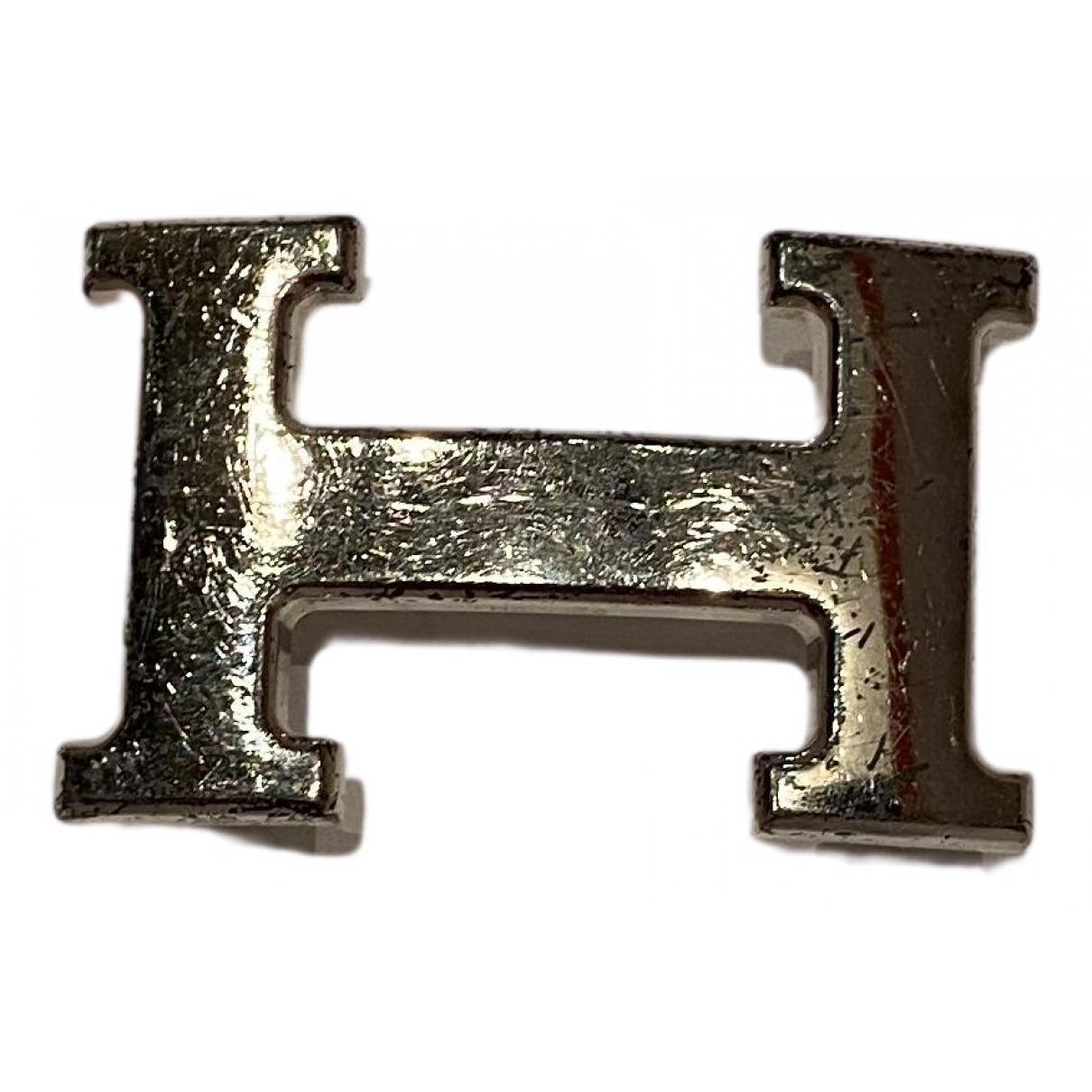 Hermes Boucle seule / Belt buckle Guertel in  Silber Metall