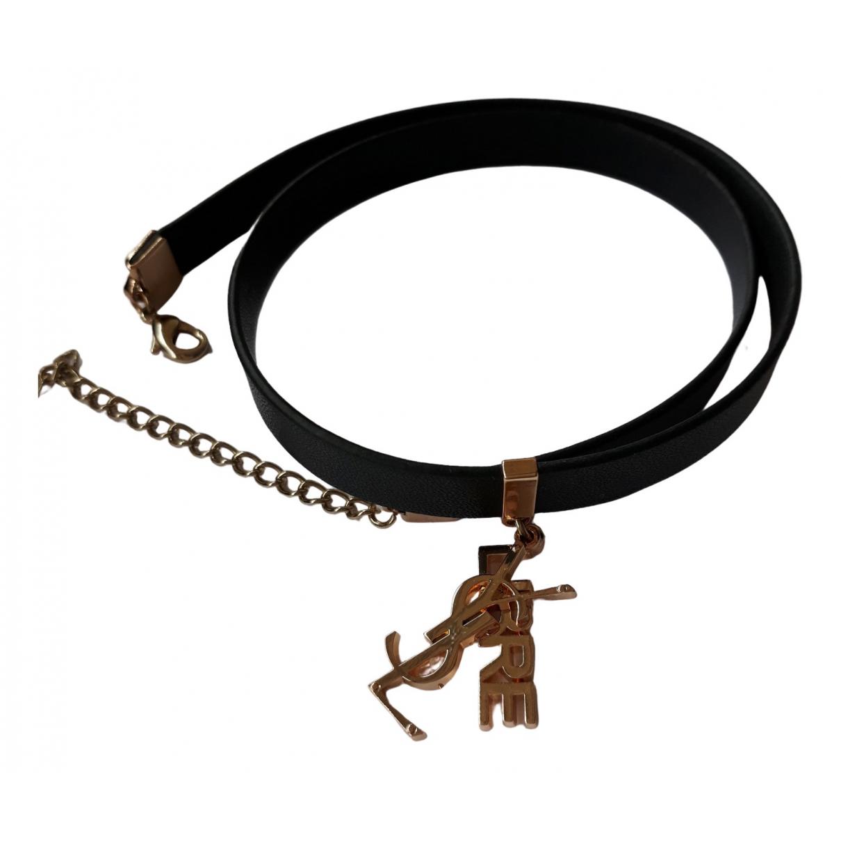 Yves Saint Laurent - Bracelet   pour femme - noir