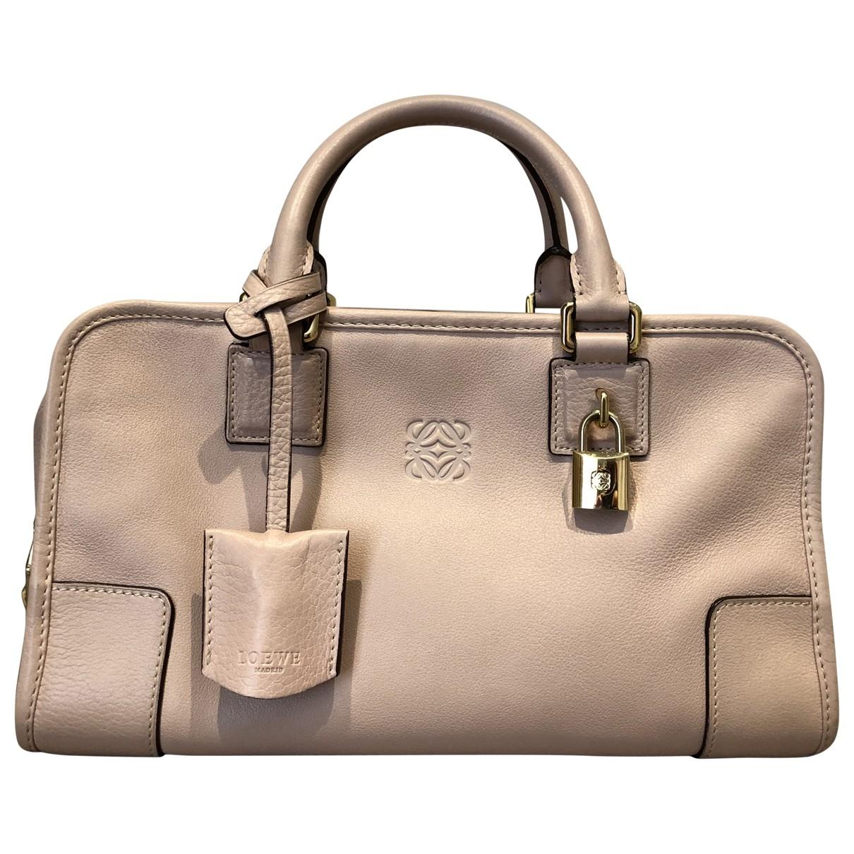 Loewe Amazona Handtasche in  Rosa Leder