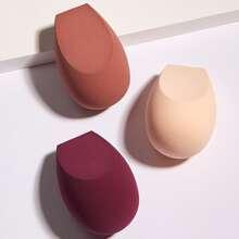 3 Stuecke Make-up Schwamm mit flacher Oberteil