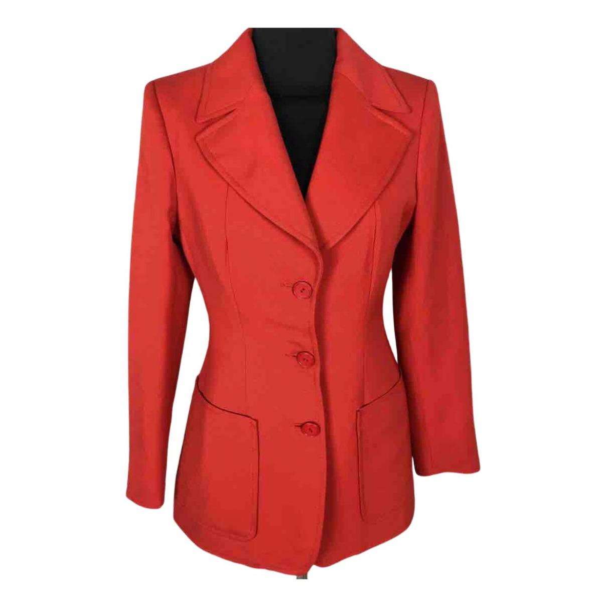 - Veste   pour femme en laine - rouge