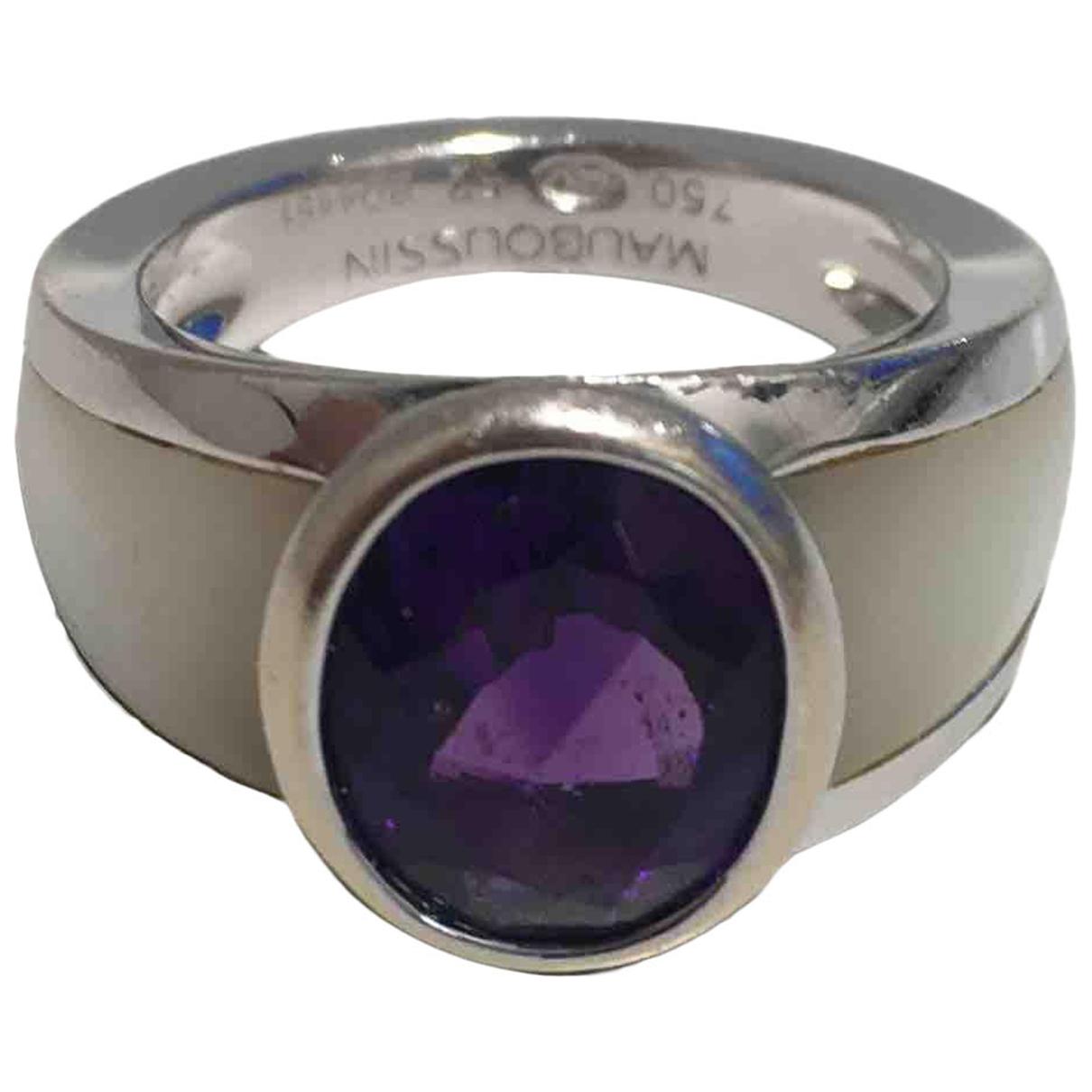 Mauboussin - Bague   pour femme en or blanc - violet