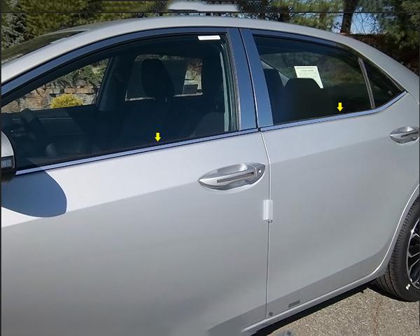 Quality Automotive Accessories 4-Piece 0.375-Width Window Sill Trim Toyota Corolla 2014