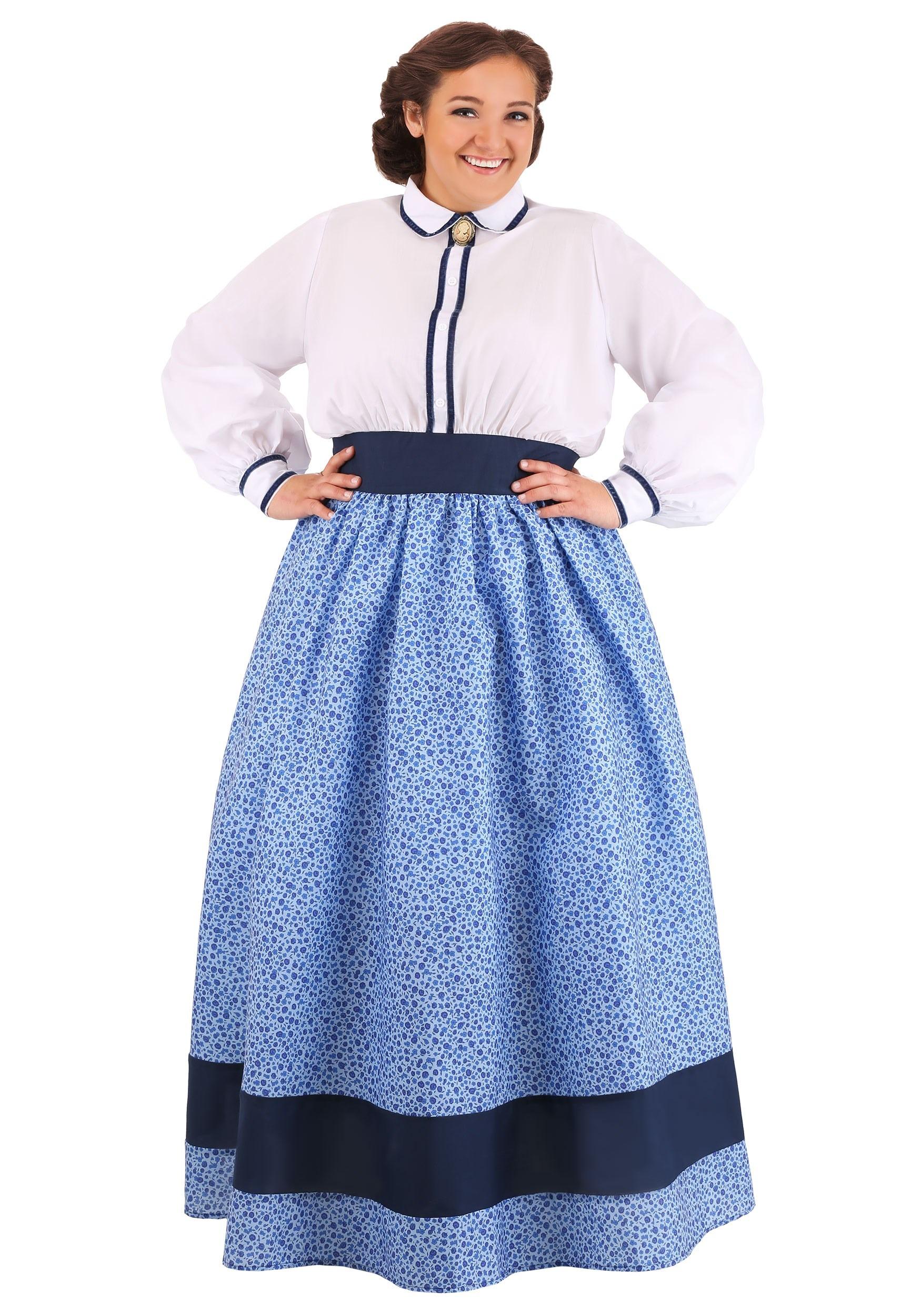 Plus Size Prairie Dress Costume for Women