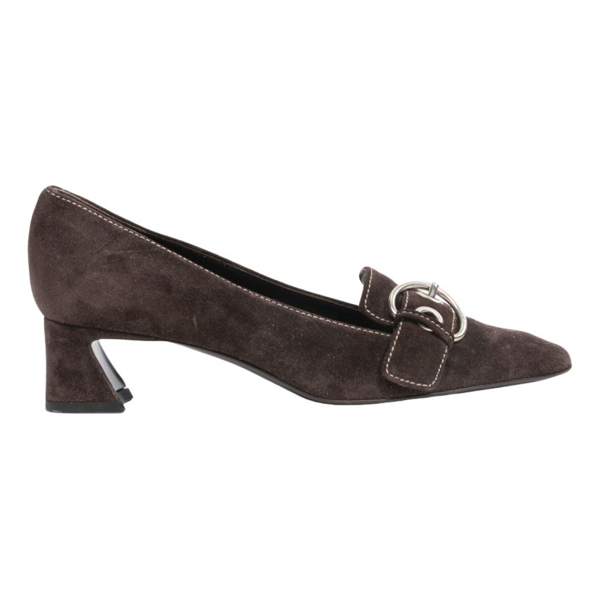 Prada \N Brown Suede Heels for Women 36.5 EU