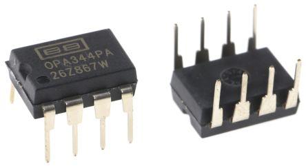 Texas Instruments OPA344PA , Precision, Op Amp, RRIO, 1MHz, 3 V, 5 V, 8-Pin PDIP (5)
