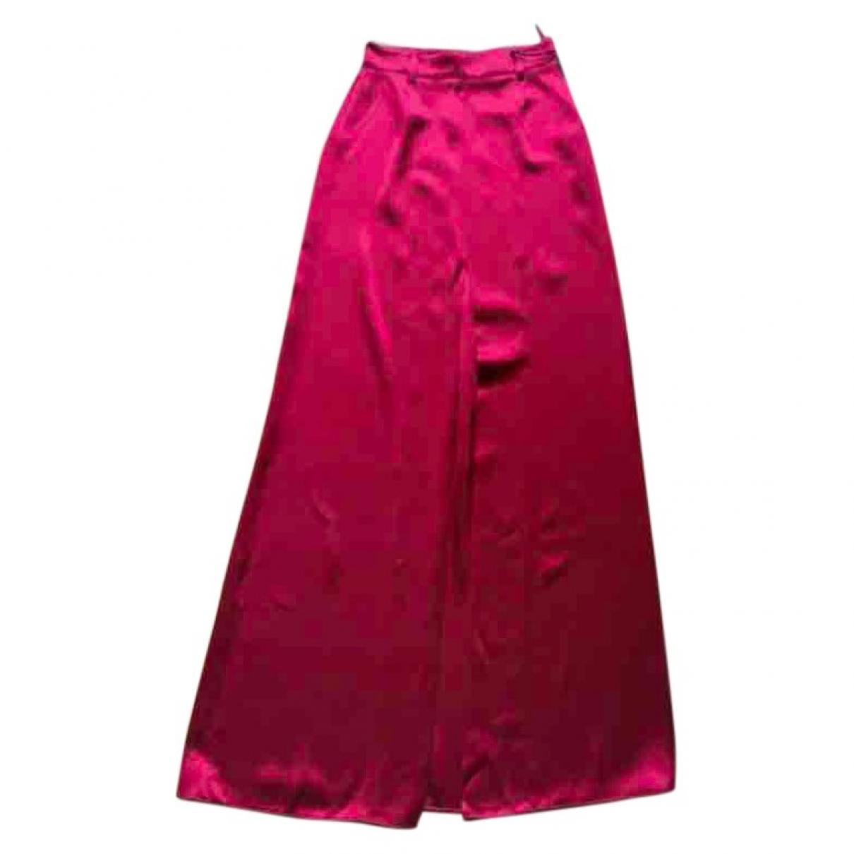 Prada \N Red Silk skirt for Women 40 IT