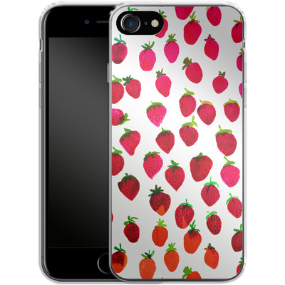 Apple iPhone 7 Silikon Handyhuelle - Strawberries von Amy Sia