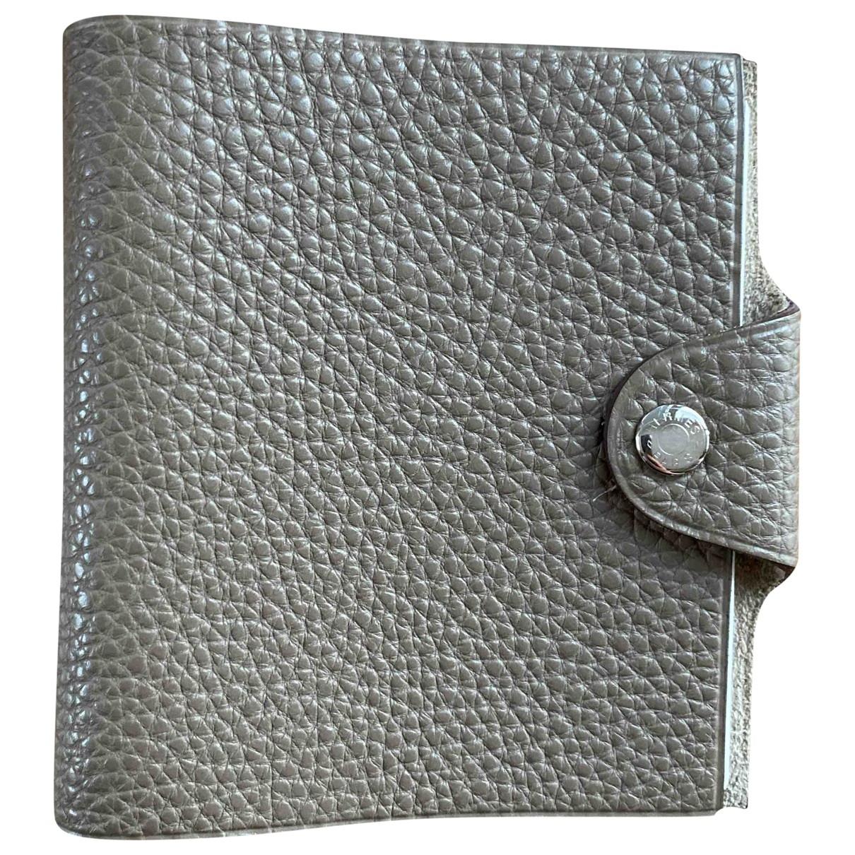 Hermes - Objets & Deco Ulysse PM pour lifestyle en cuir - gris