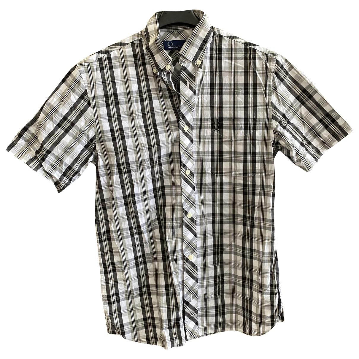 Fred Perry - Chemises   pour homme en coton - gris