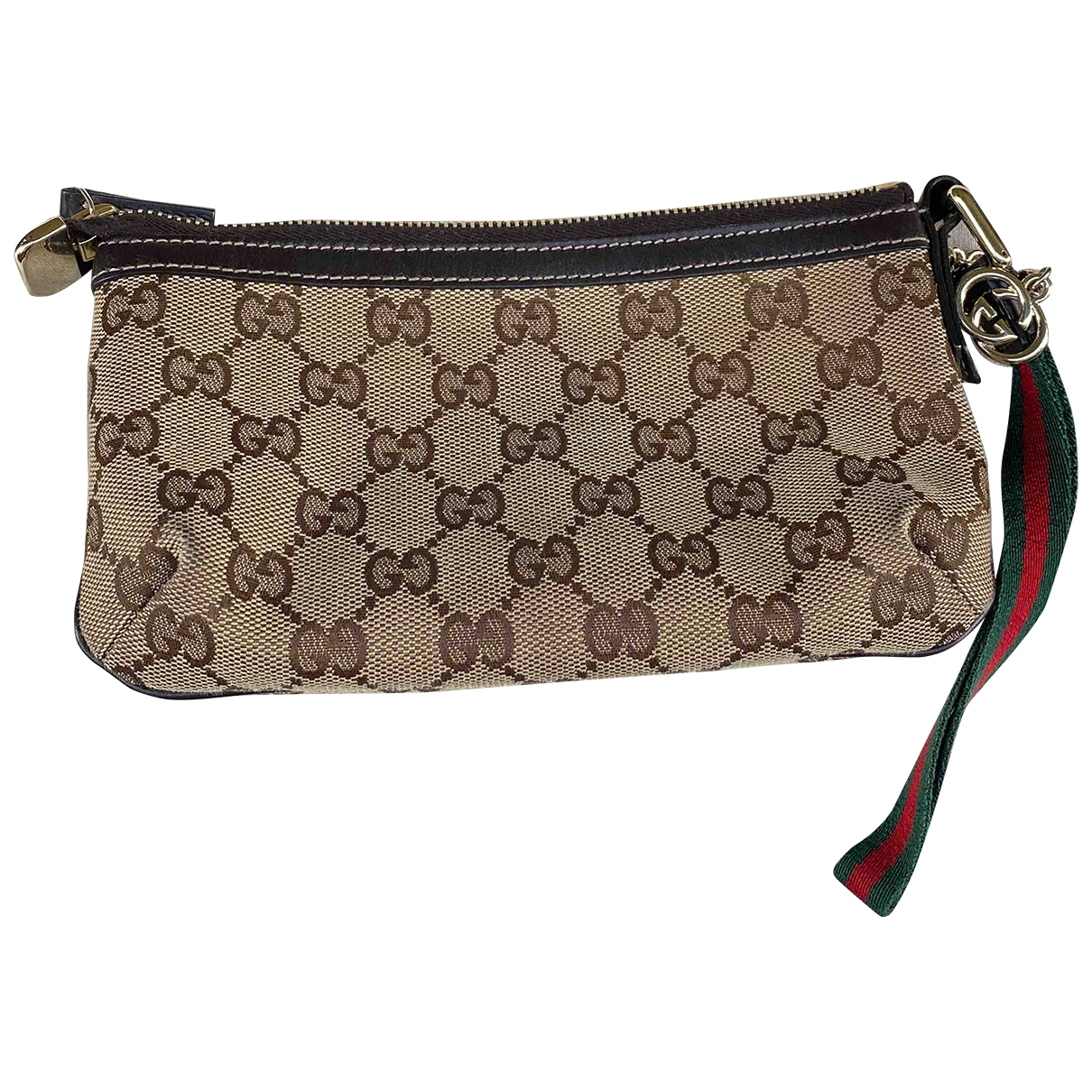 Gucci \N Clutch in  Kamel Leinen