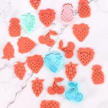 4pcs Kids Fruit Biscuit Mold