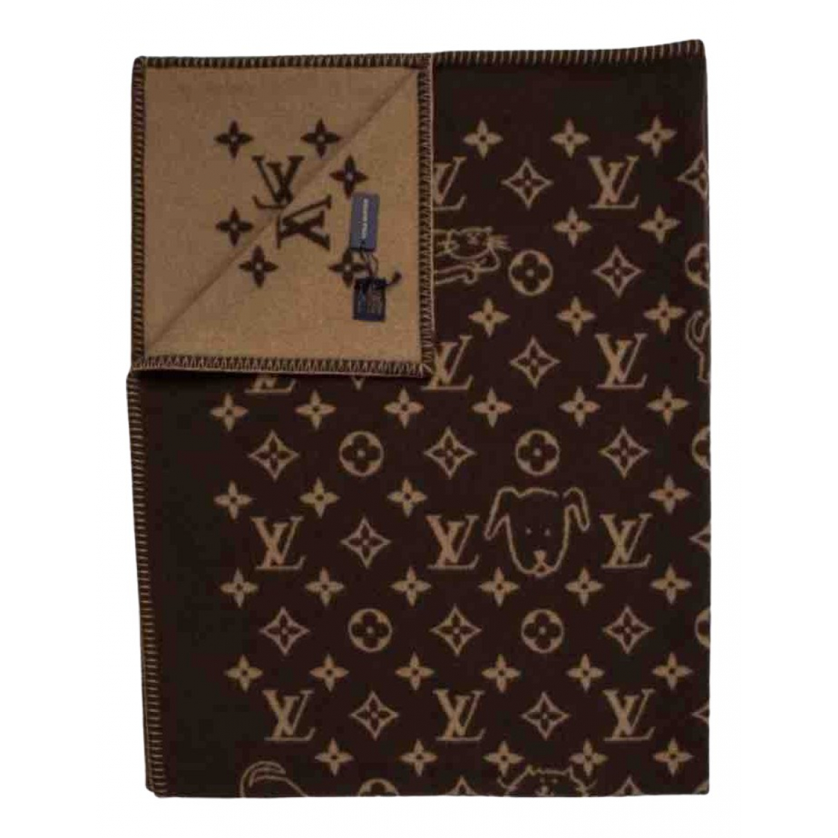 Louis Vuitton \N Brown Wool Textiles for Life & Living \N