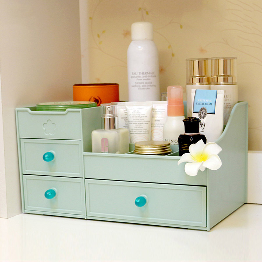 Drawer Type Cosmetics Large Simple Style Storage Box