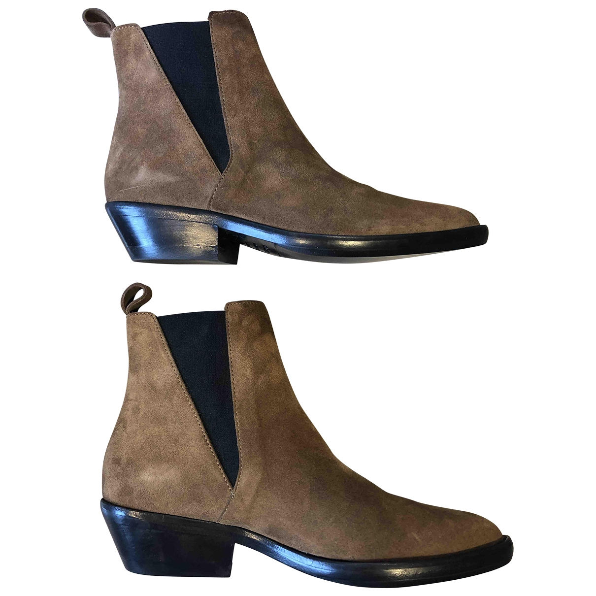 Isabel Marant \N Brown Suede Ankle boots for Women 36 EU