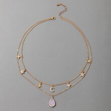 Star & Moon Decor Layered Necklace