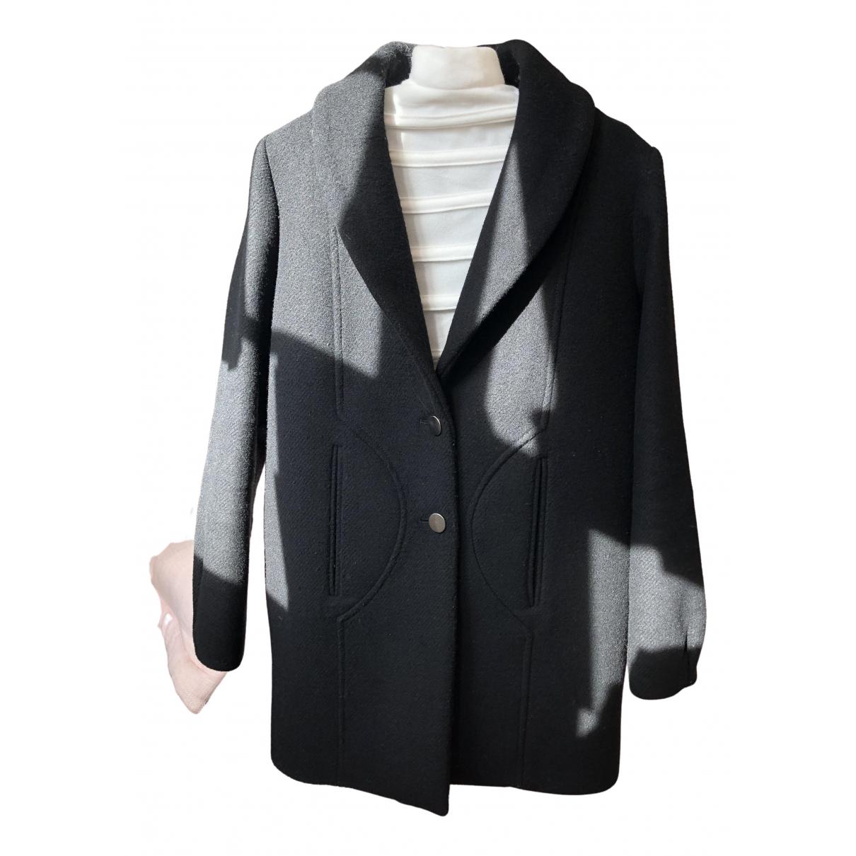 Ba&sh - Manteau   pour femme en laine - noir