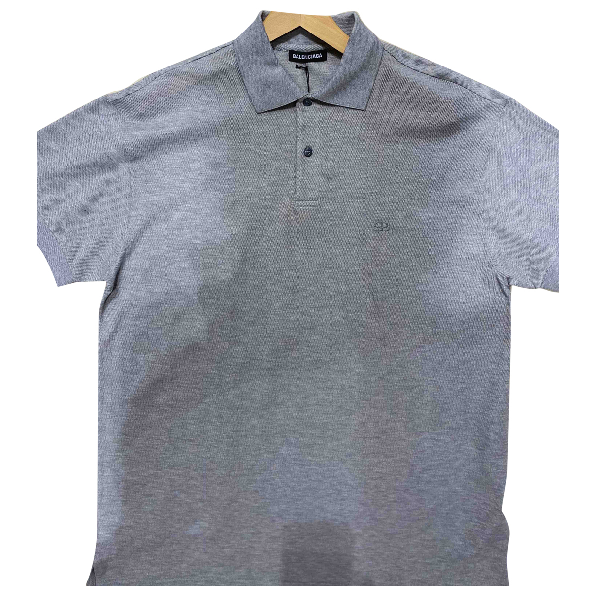 Balenciaga - Polos   pour homme en coton - gris