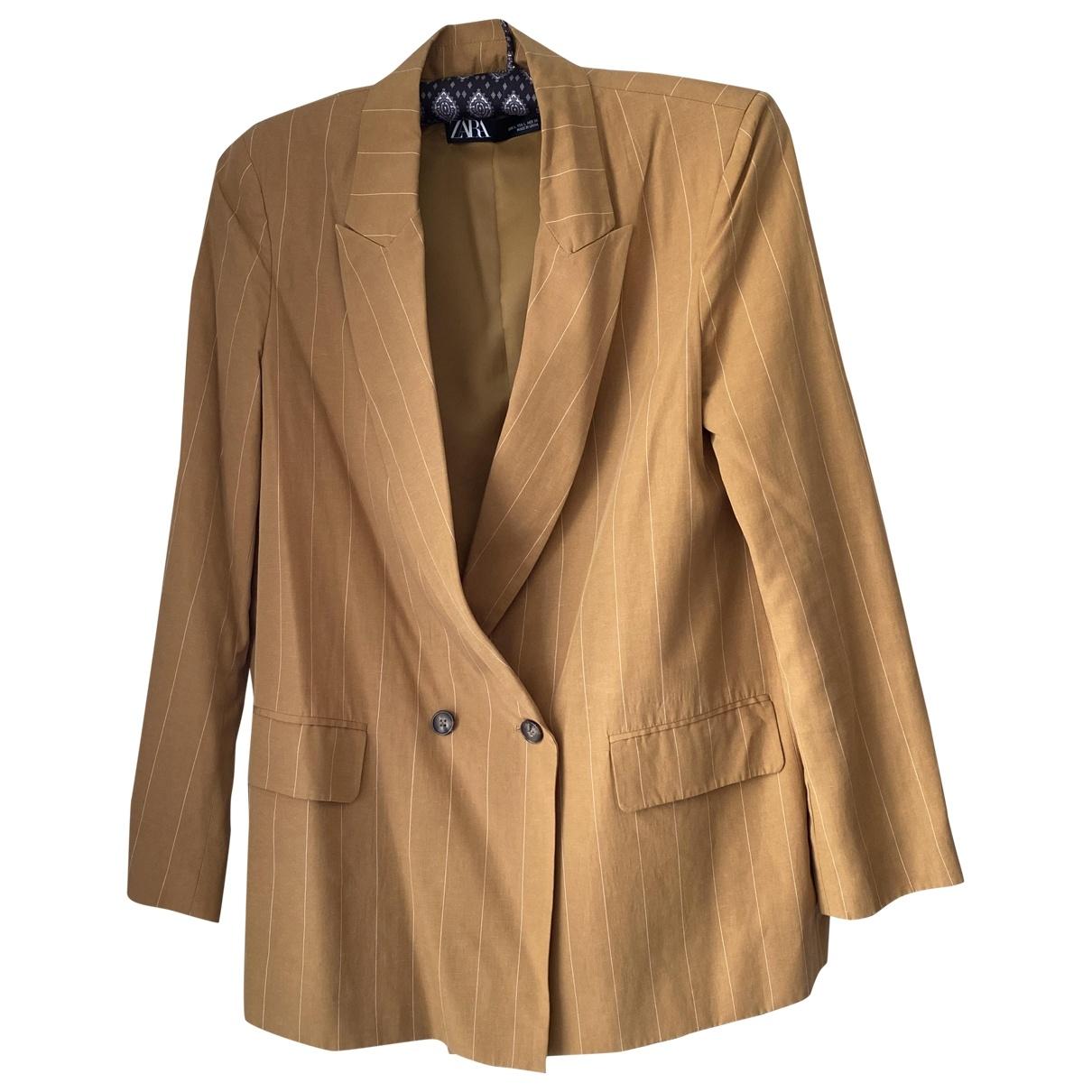 Zara \N Yellow Linen jacket for Women L International