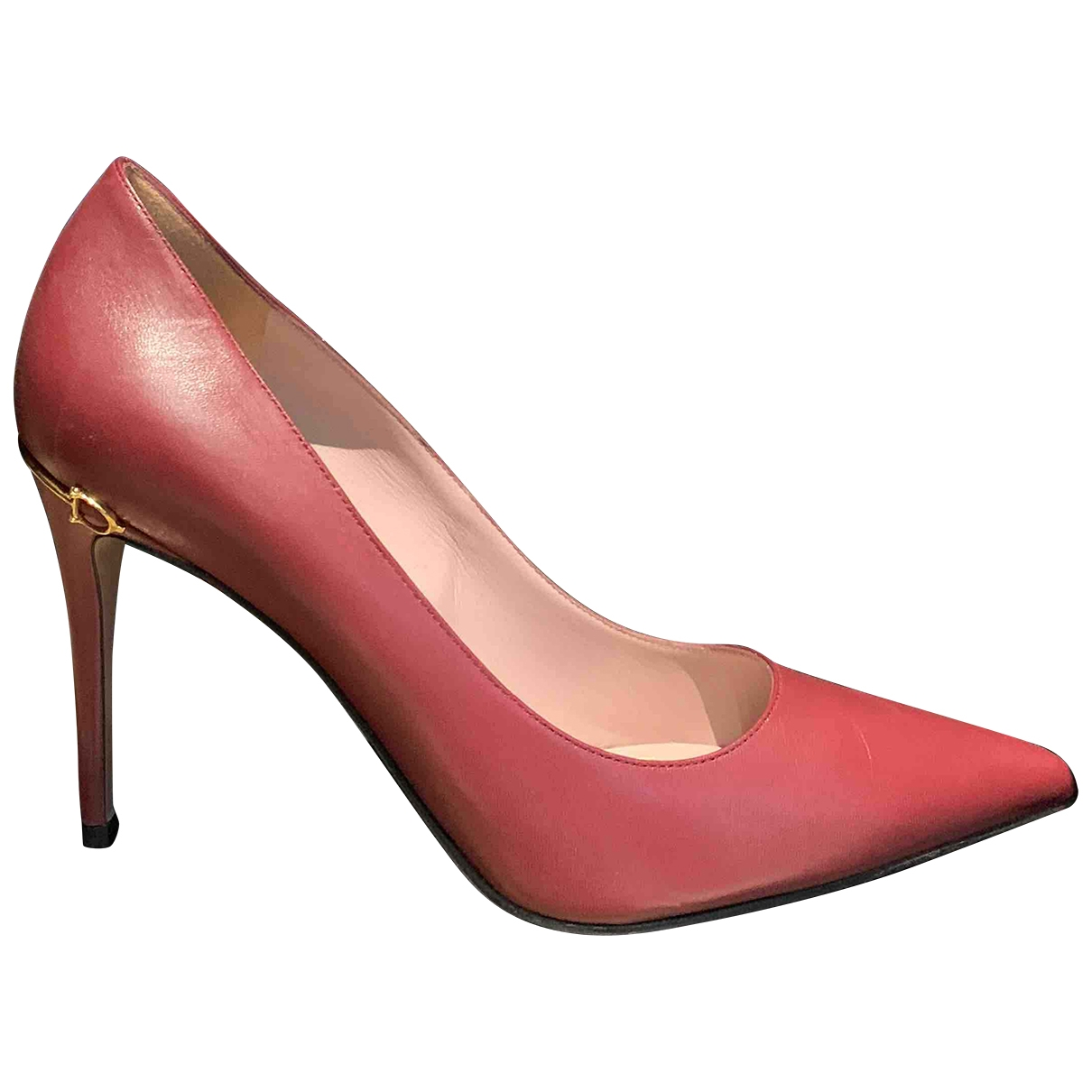 Gucci \N Burgundy Leather Heels for Women 39 IT