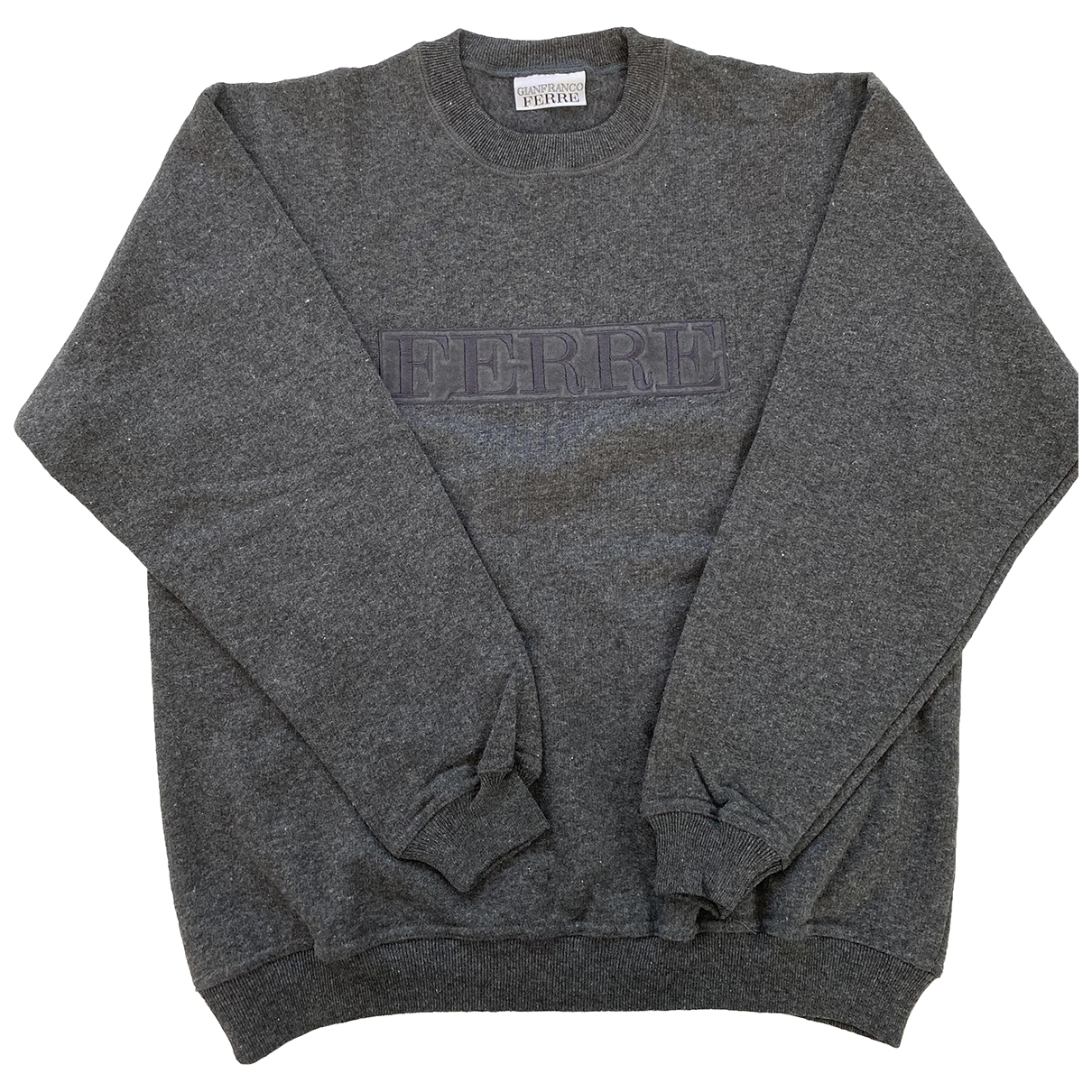 Gianfranco Ferre \N Pullover.Westen.Sweatshirts  in  Grau Baumwolle