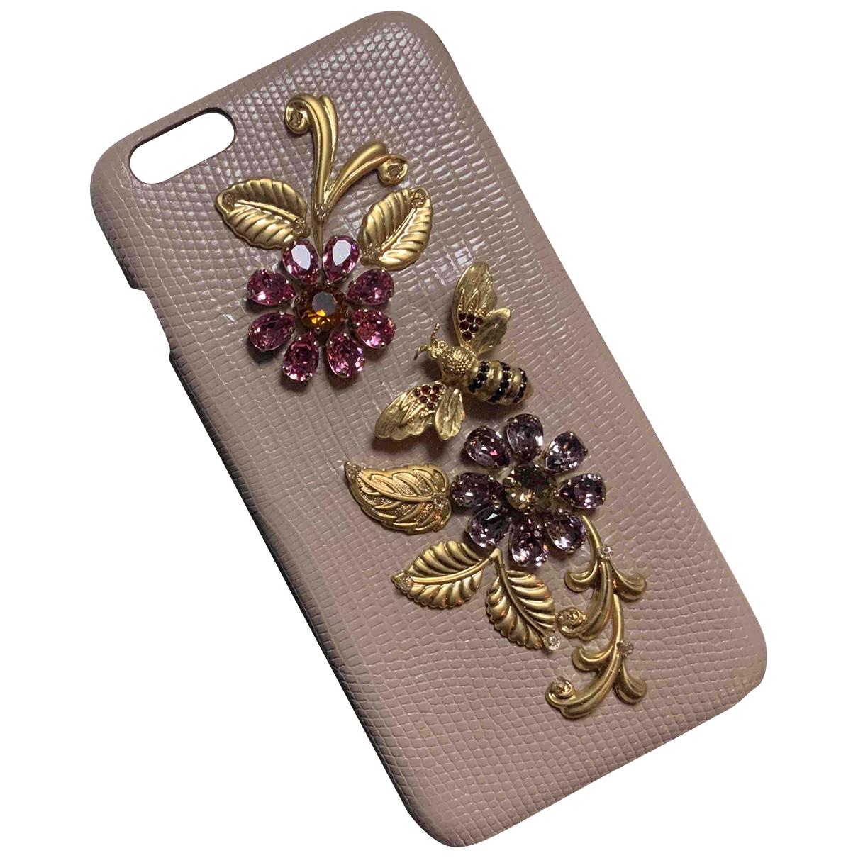 Dolce & Gabbana - Accessoires   pour lifestyle en cuir - beige