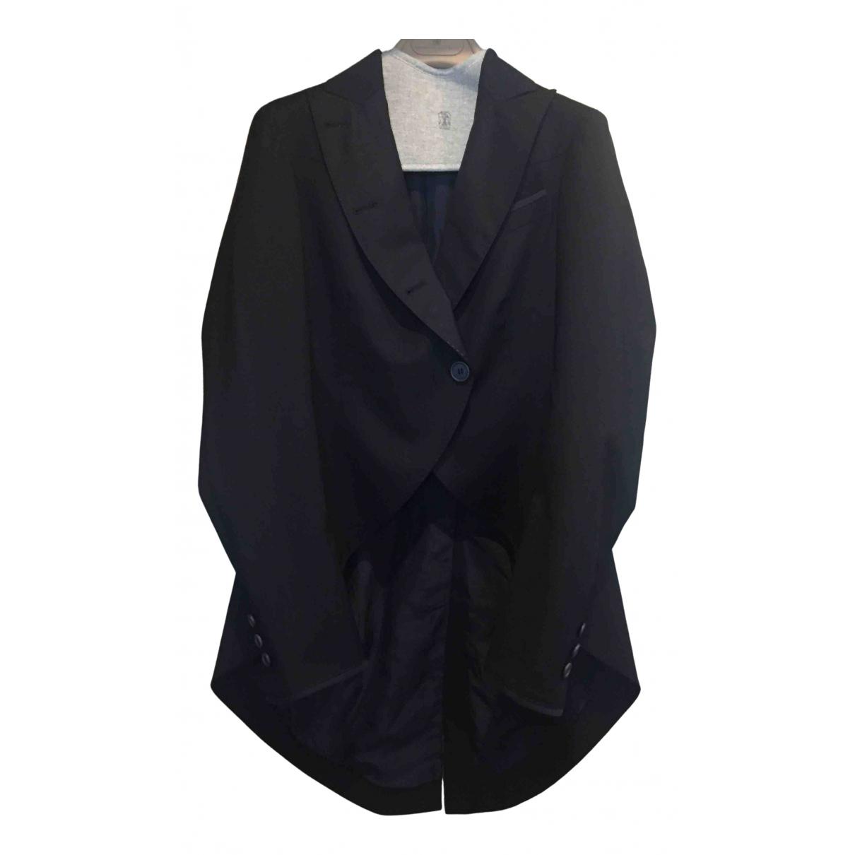 Brunello Cucinelli - Veste   pour femme en laine - bleu