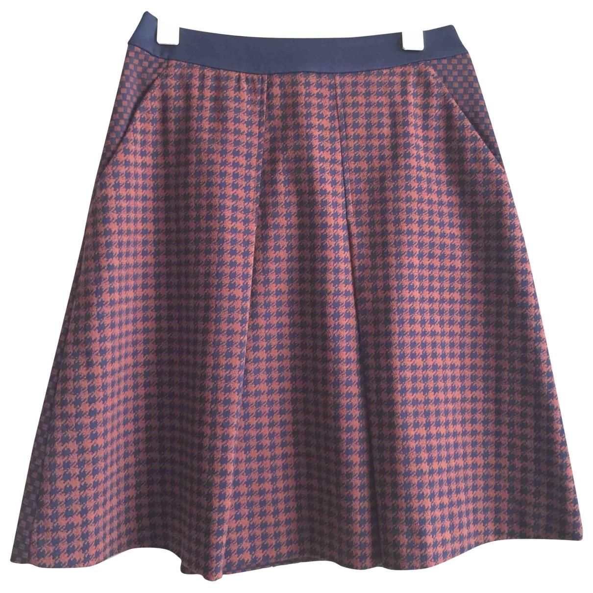 Marella \N Multicolour Cotton - elasthane skirt for Women 38 FR