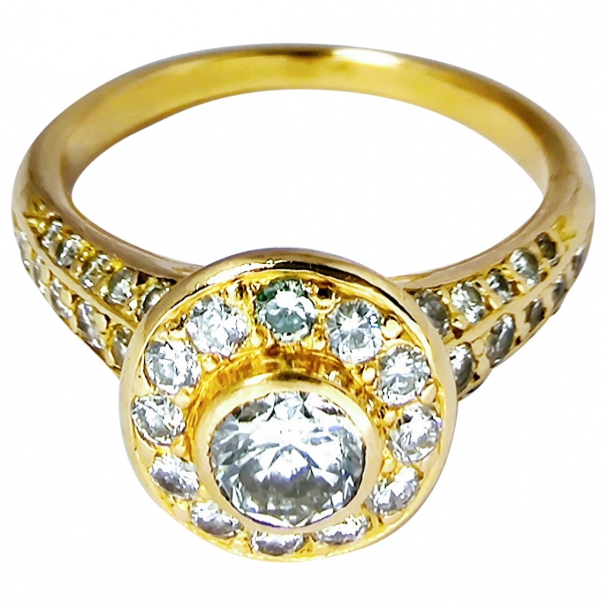 Non Signé / Unsigned \N Gold Yellow gold ring for Women 48 MM