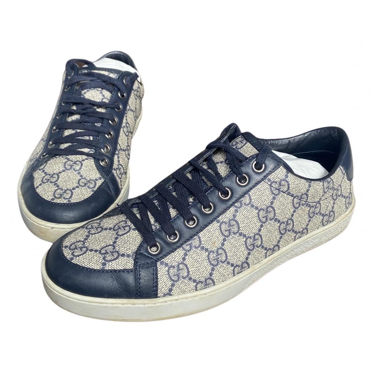 Gucci - Baskets   pour homme en toile - bleu