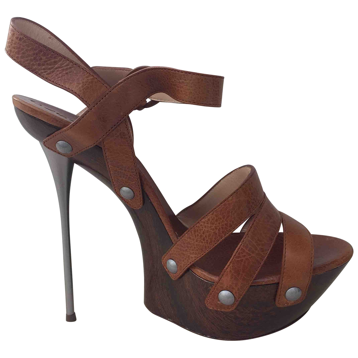 Casadei \N Camel Leather Heels for Women 38.5 EU