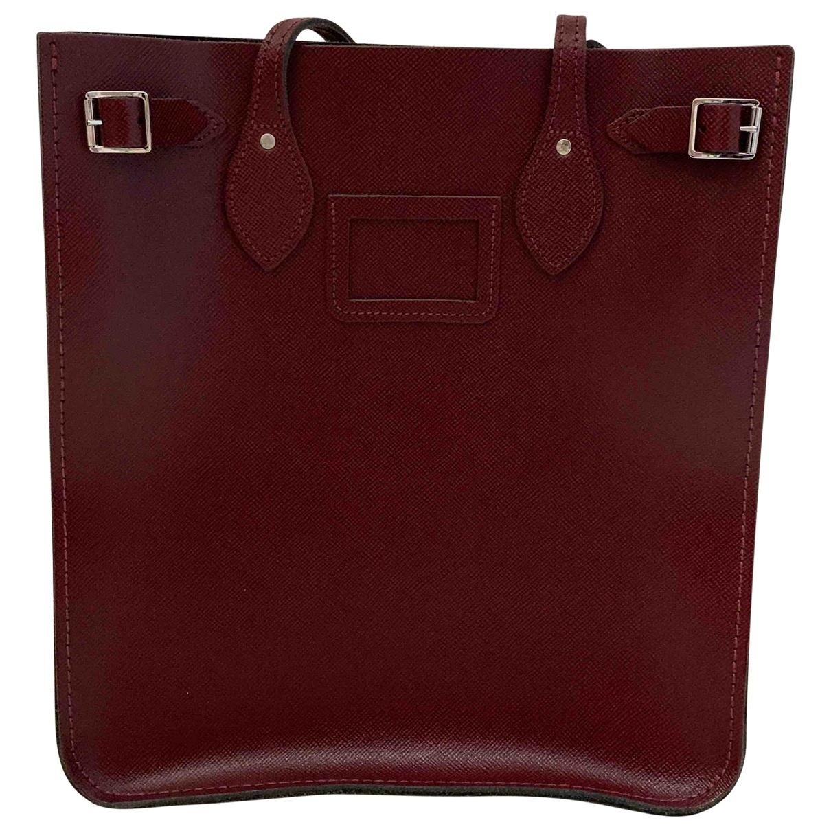 Cambridge Satchel Company \N Handtasche in  Bordeauxrot Leder