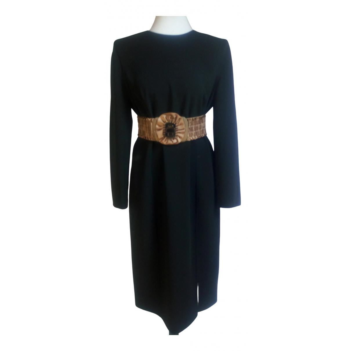 Celine \N Black Wool dress for Women L International