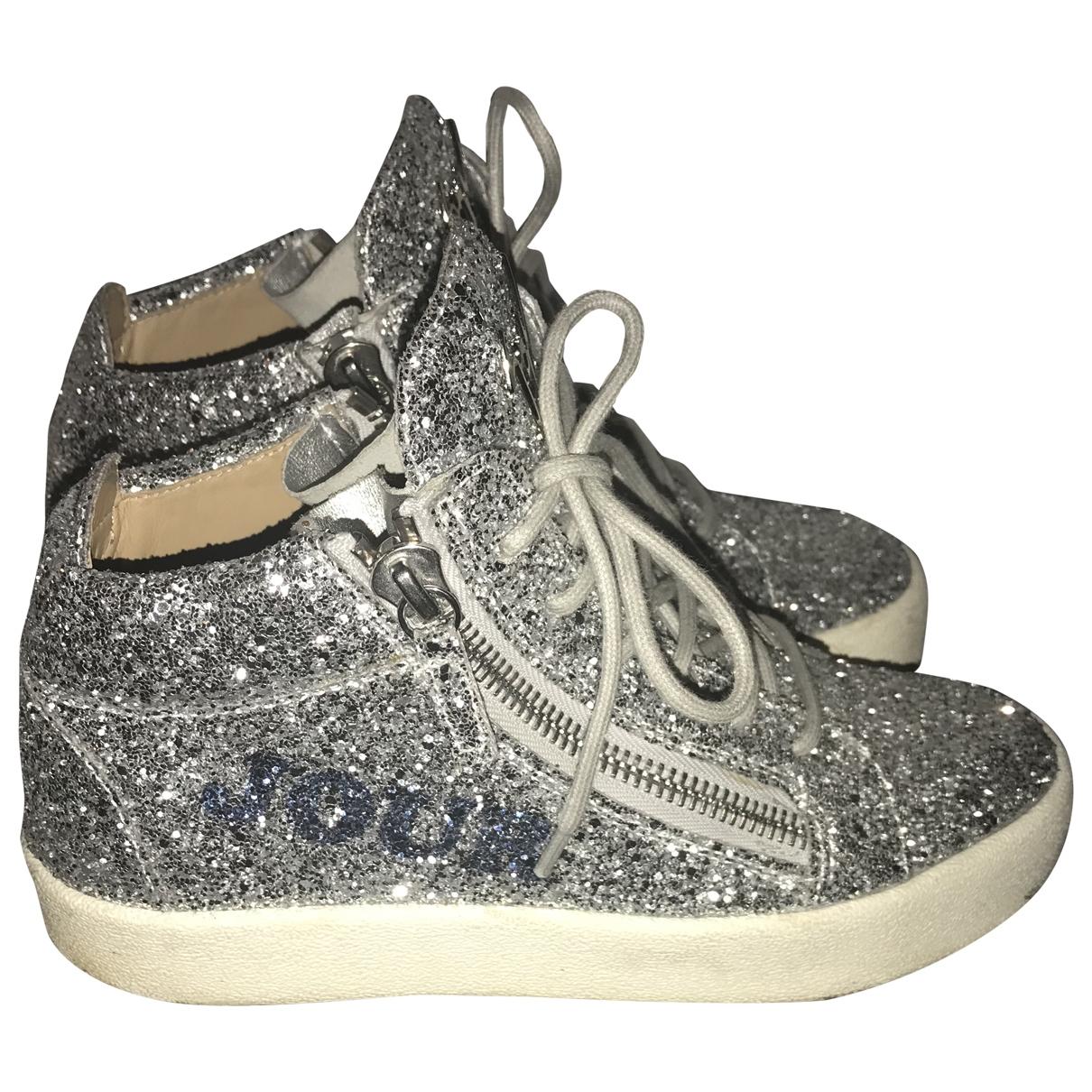 Giuseppe Zanotti Donna Sneakers in  Silber Mit Pailletten
