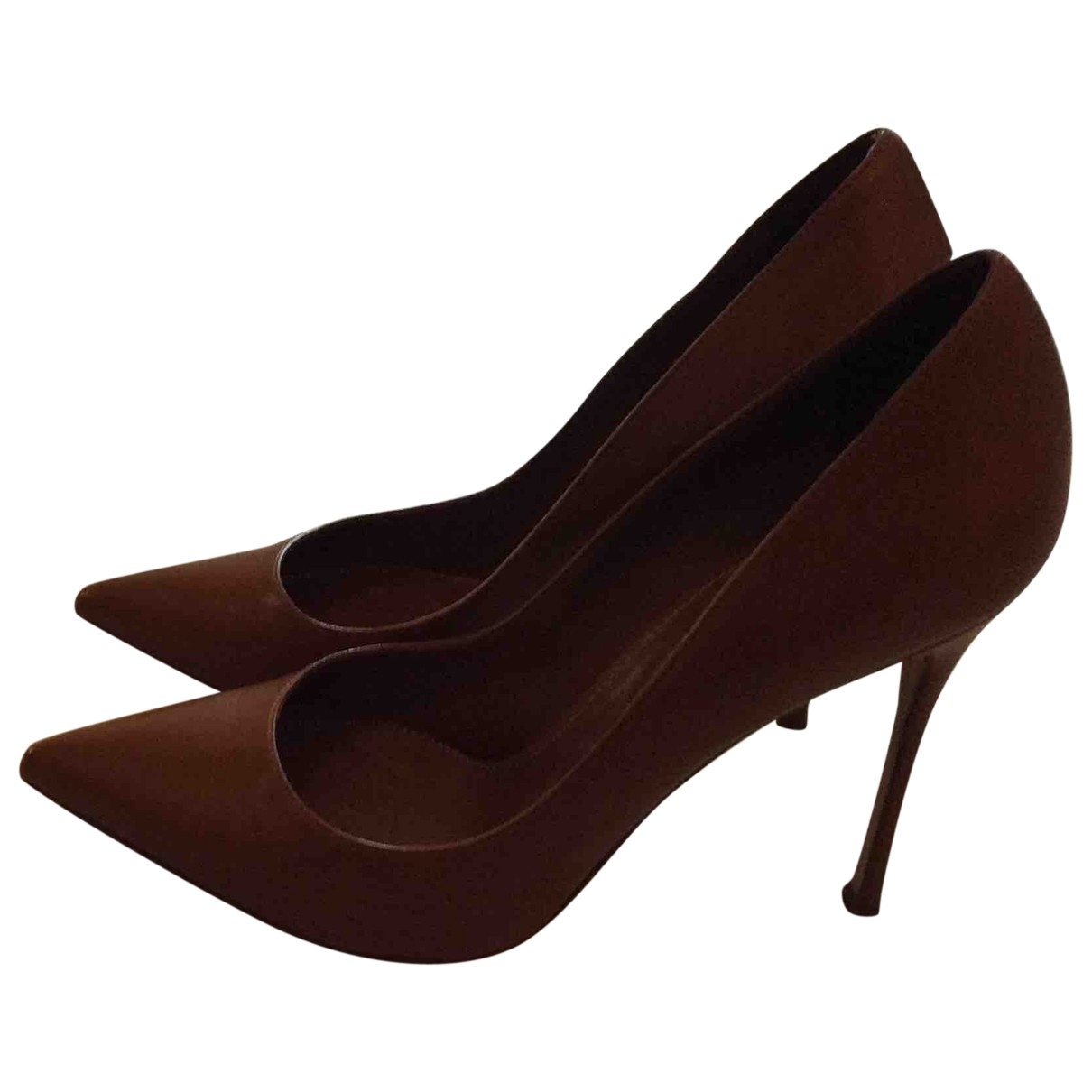 Sergio Rossi \N Brown Leather Heels for Women 39 EU