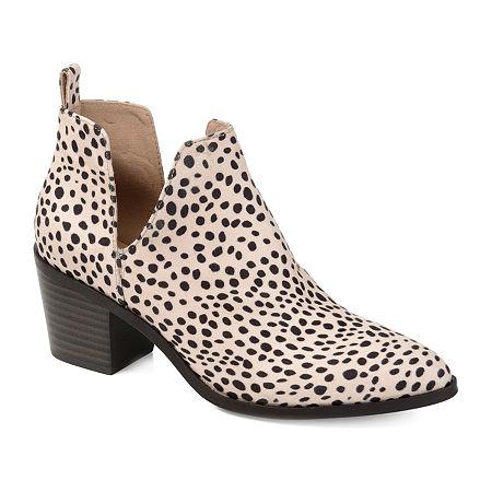 Journee Collection Womens Lola Stacked Heel Booties, 5 1/2 Medium, Multiple Colors
