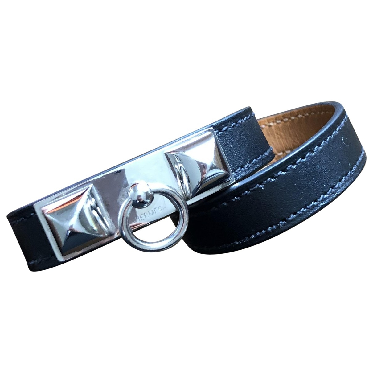 Hermès Rivale Black Leather bracelet for Women \N