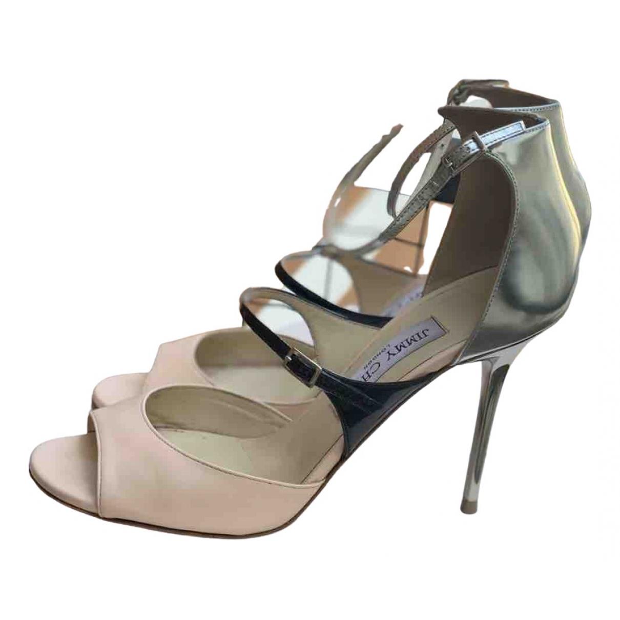 Jimmy Choo \N Silver Leather Heels for Women 38 EU