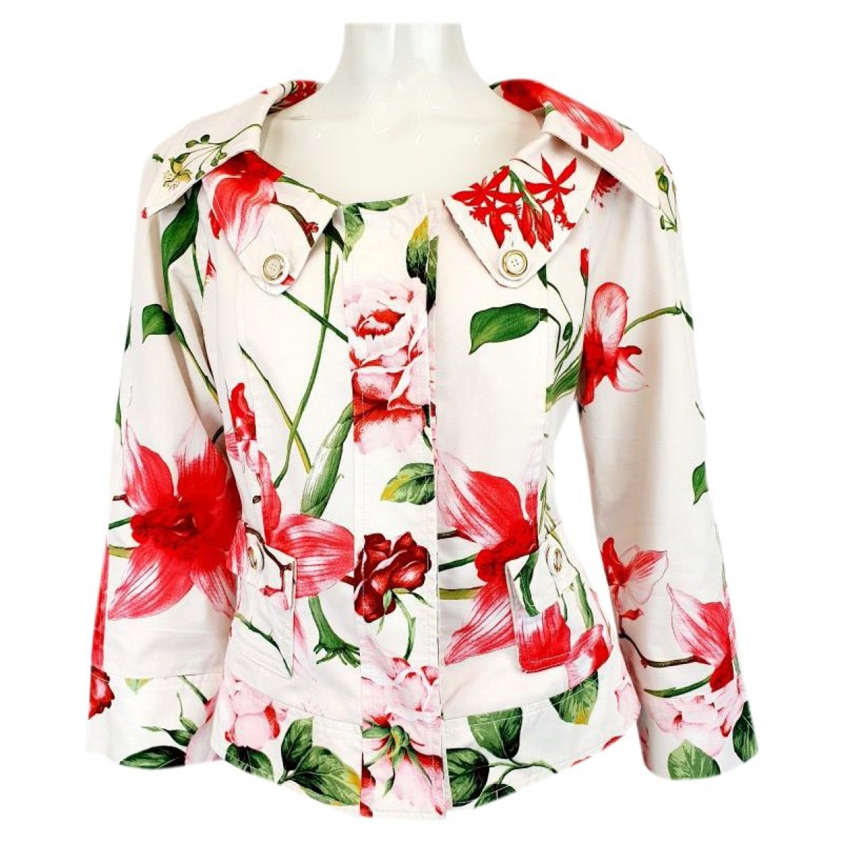 D&g - Manteau   pour femme en coton - multicolore