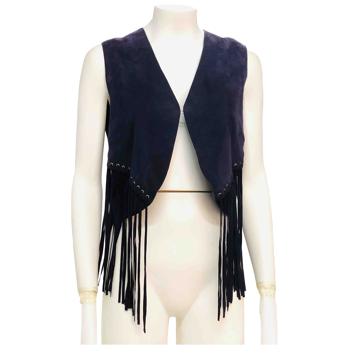 Roberto Cavalli N Blue Suede Knitwear for Women 42 IT