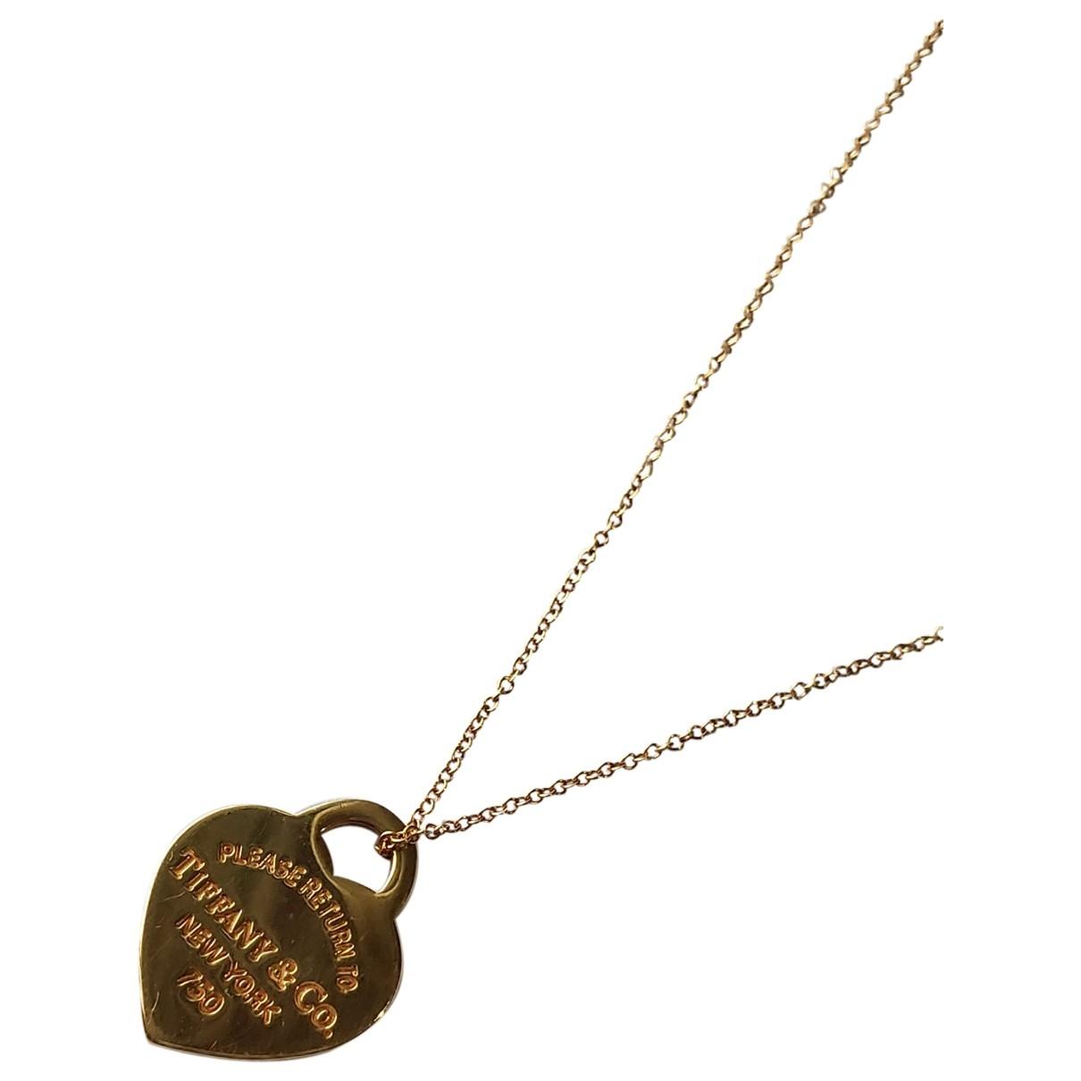Collar Return to Tiffany de Oro amarillo Tiffany & Co