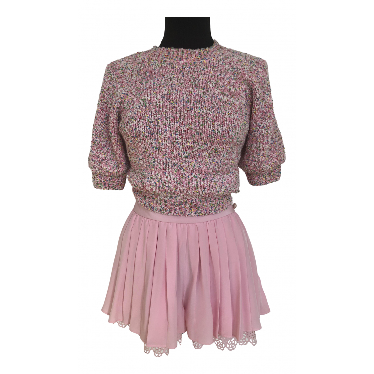 Chanel - Top   pour femme en coton - rose