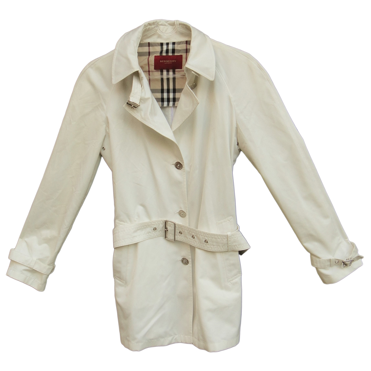 Burberry \N White Cotton Trench coat for Women 42 IT