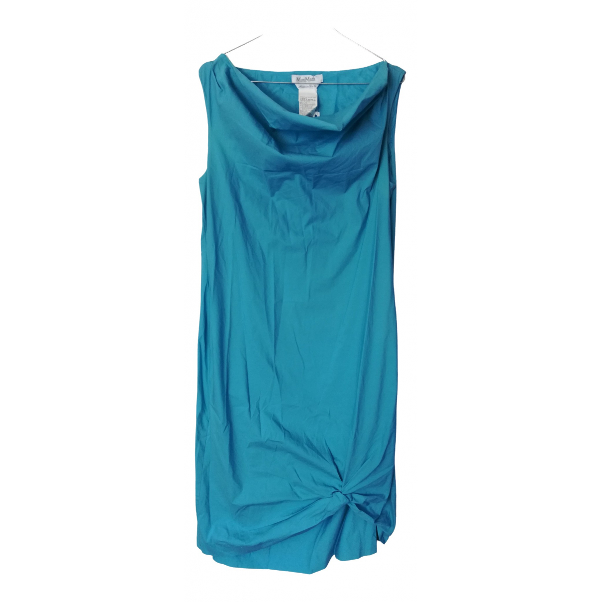 Max Mara \N Turquoise Cotton dress for Women 46 IT
