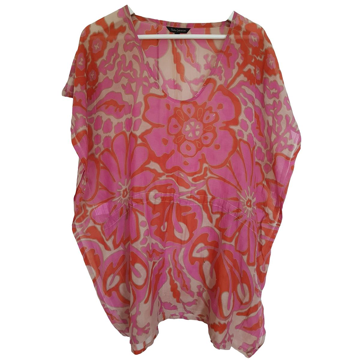 Tara Jarmon \N Pink Cotton  top for Women 38 FR