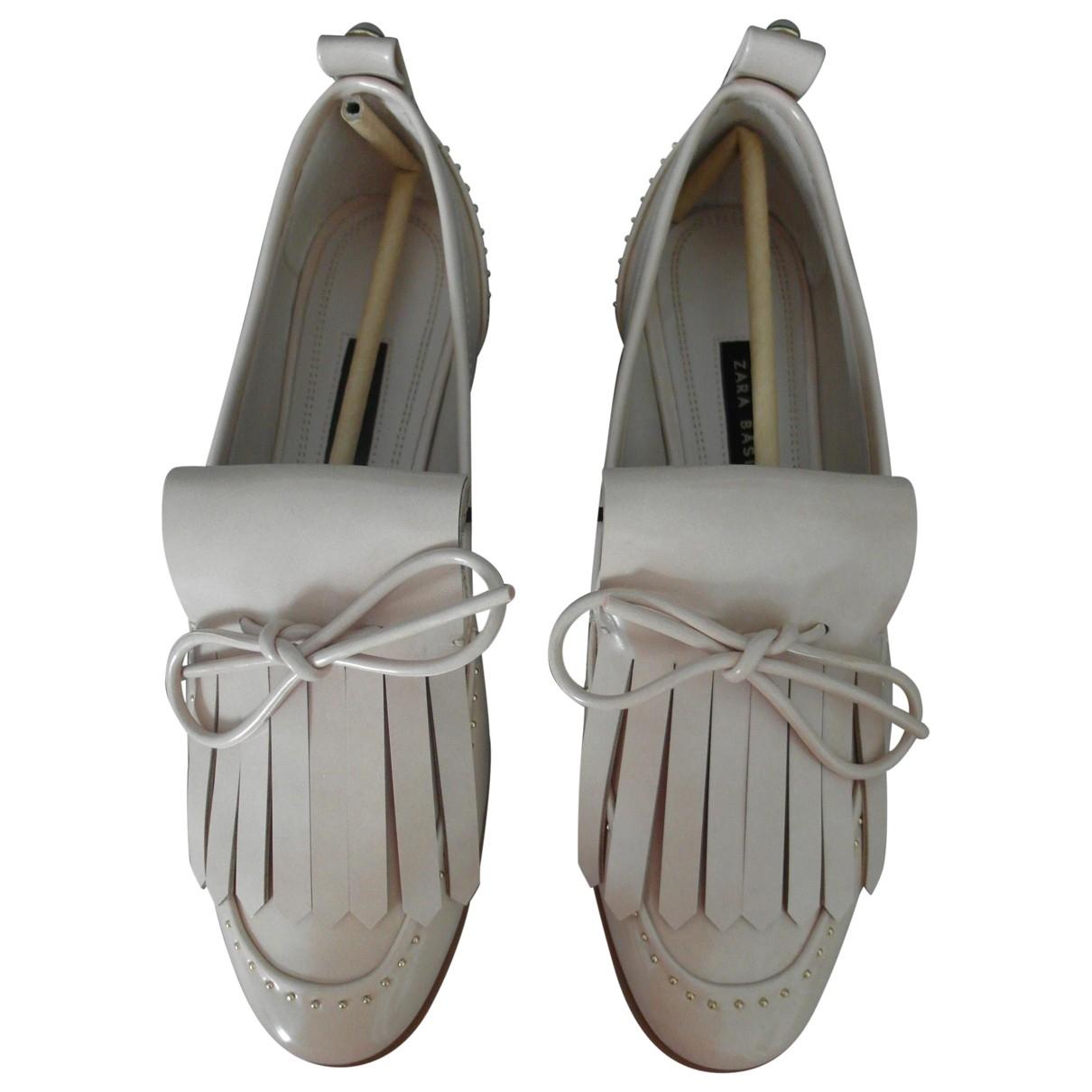 Zara \N Patent leather Flats for Women 38 EU