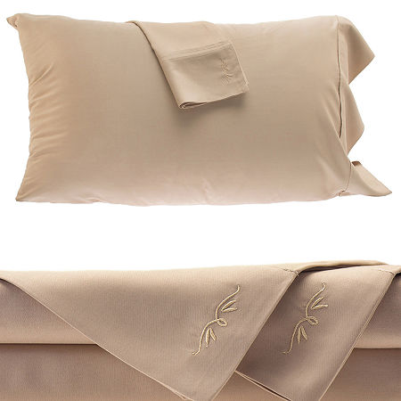 BedVoyage 300tc Rayon from Bamboo Sheet Set, One Size , Brown