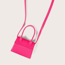 Bolsa cartera mini con solapa